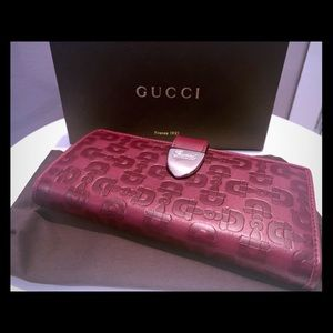 Burgundy Gucci Wallet